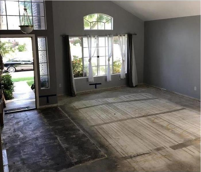 Front Entrance with flooring Removed from Water Damage